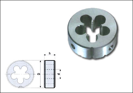 Circular die M with chamfer