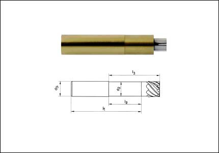 Cylindrical shank for interchangeable head for cutter