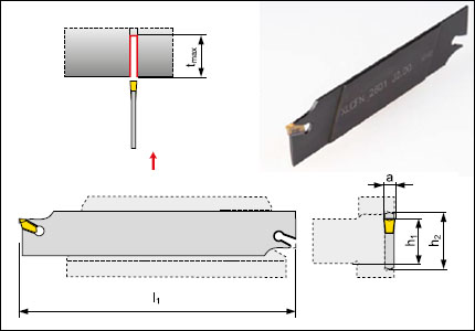 XLCFN cutting-off toolholder blade