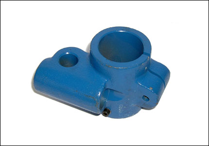 Roller support joint for belt tighteners