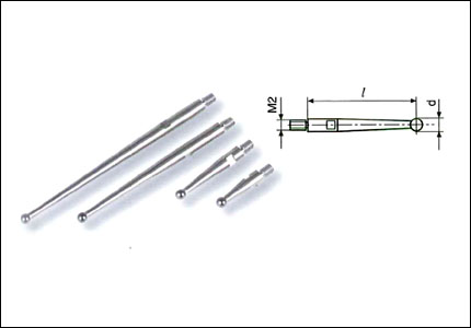 Feeler pin for lever gauges