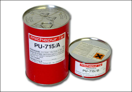 Paste made of polyurethanic resin PU-715/A