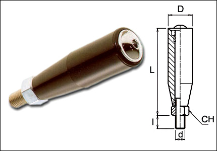 Revolving handle with brass bushings