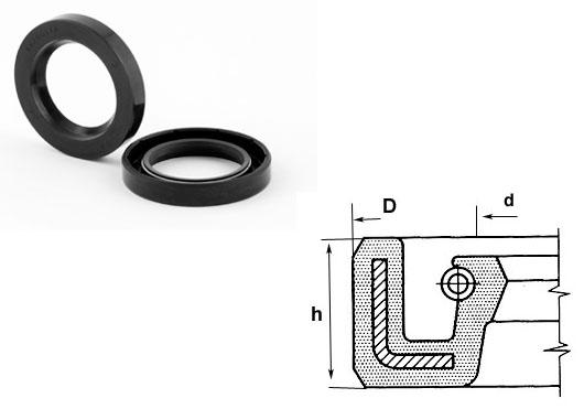 1 Pzi onde anello di tenuta//BOCCOLE NBR 25x37x7-25//37//7 mm as = cosa = DASL = TC