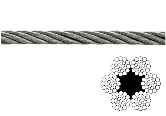 Wire rope with 216 wires for lifting systems