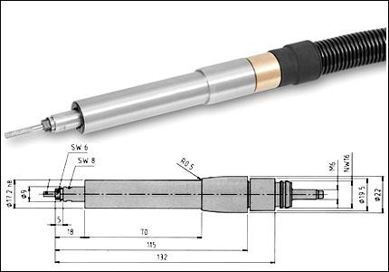 Biax Pneumatic grinding wheel tool RO 1785, 85000 rpm