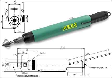 Biax Angular deburring tool BEW 309, 900 rpm